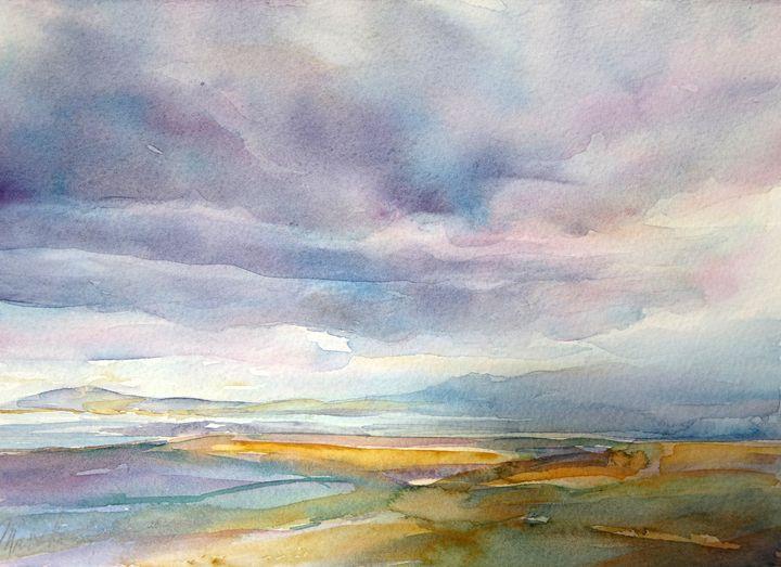 Stormy Mono Lake - MB Watercolors