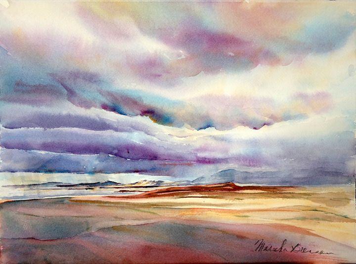 Stormy Mono Lake-2 - MB Watercolors
