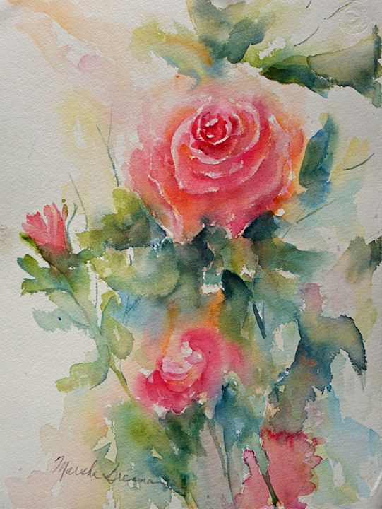 Roses Galore - MB Watercolors
