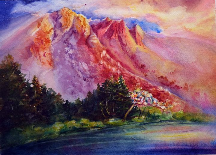 Dunderberg Dawn - MB Watercolors