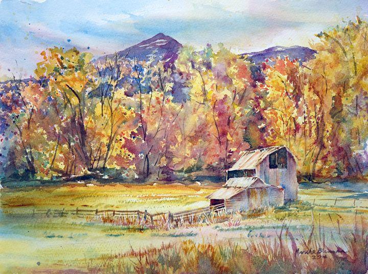 Wallowa Autumn-2 - MB Watercolors