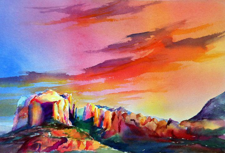 Sedona Sunset - MB Watercolors
