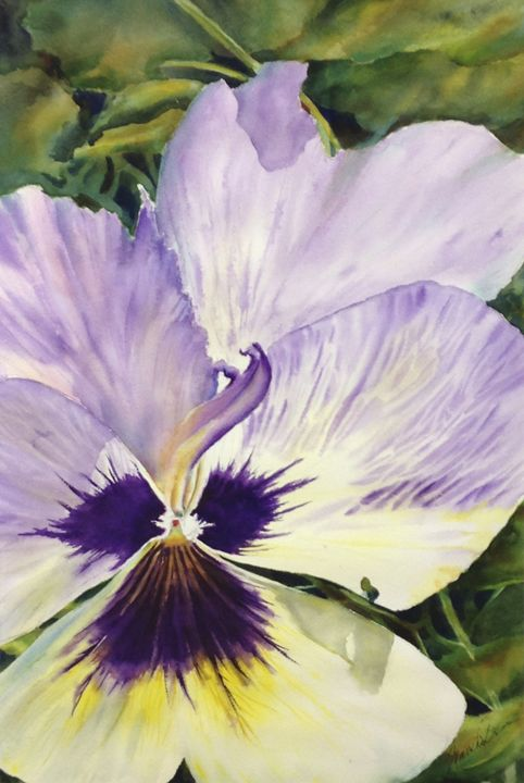 Pansy Extrovert - MB Watercolors
