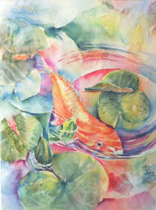 Curious Koi - MB Watercolors