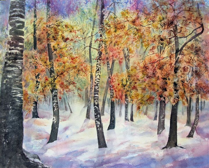 Early Snow - MB Watercolors