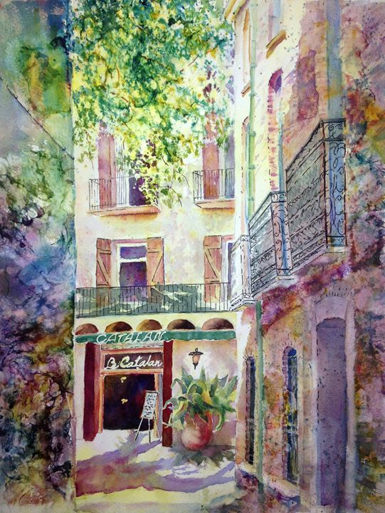 Lunch at the Catalan - MB Watercolors