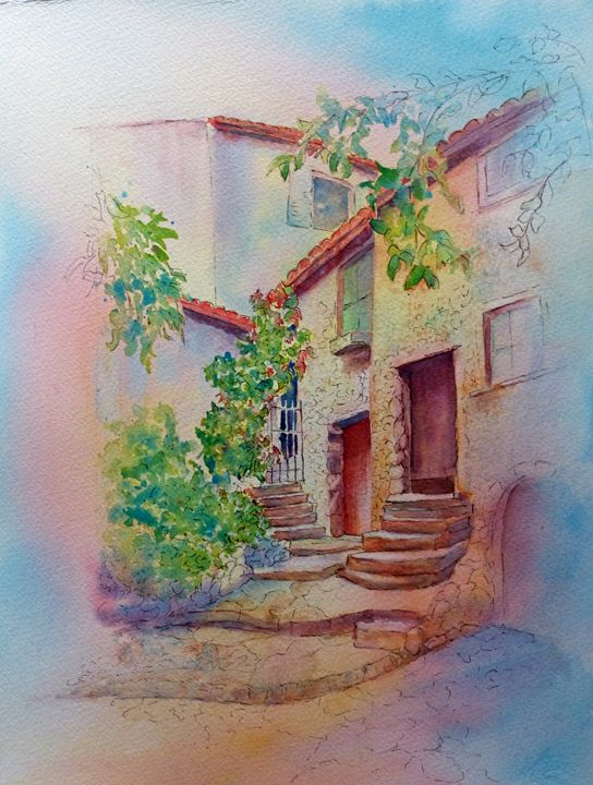 French Homecoming - MB Watercolors
