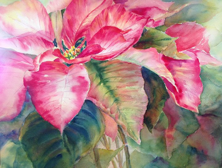 Pointsettia Joy - MB Watercolors