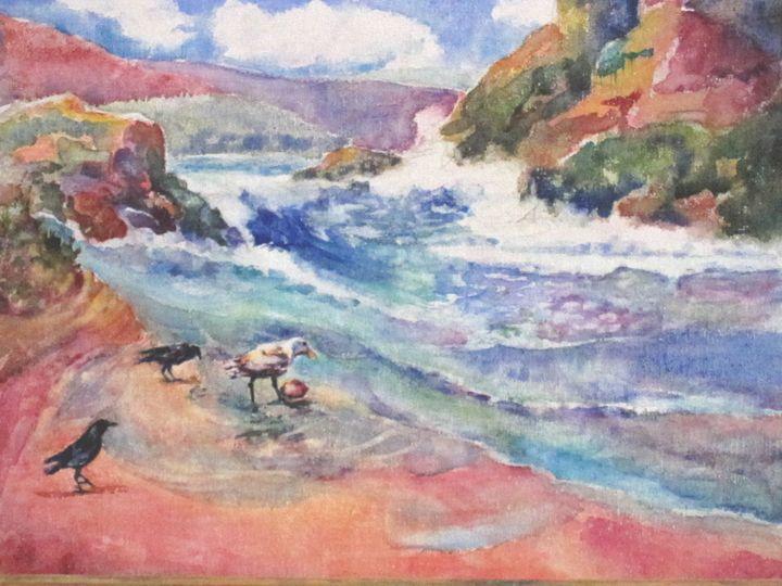 Gull's Treasure - MB Watercolors