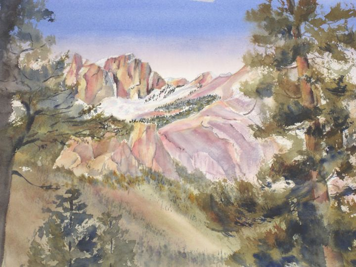 The Crags - MB Watercolors