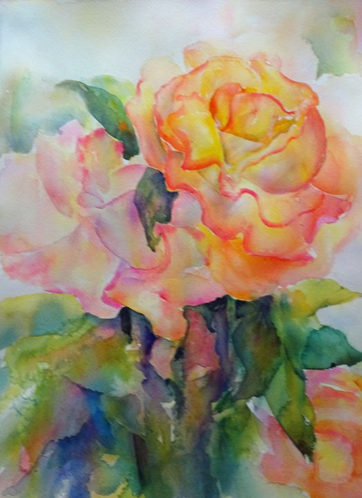 Floral Sherbet - MB Watercolors