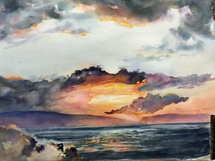 Maui Sunset - MB Watercolors