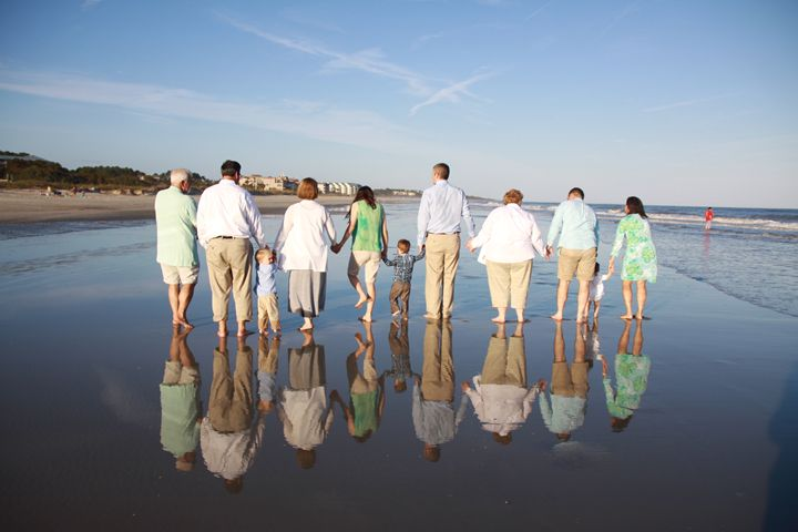Family on the beach - Wendy Theisen Halsey Photography