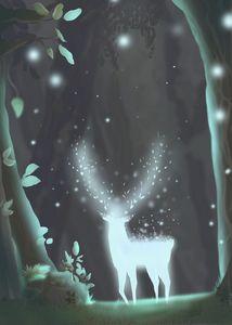 Deer spirit in the Woods