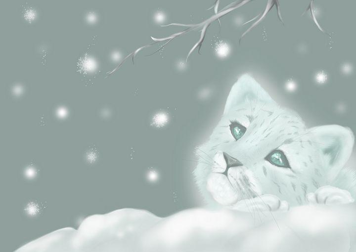 Winter Leopard Cub - Nature Fairy Art