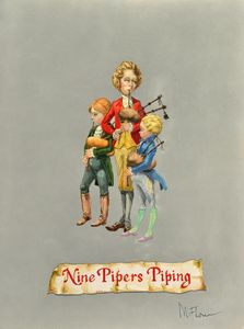 Nine Pipers Piping
