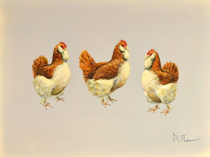 Three French Hens - Miguel Flores
