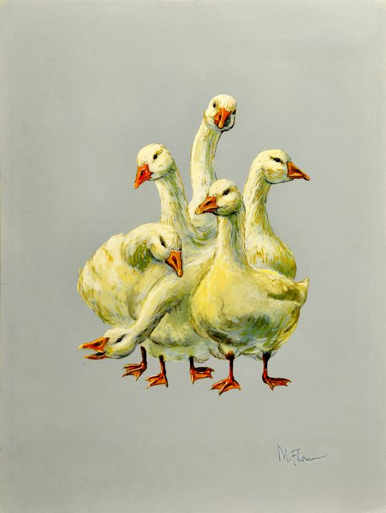 Six Geese A'Laying - Miguel Flores