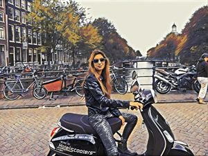 Helmetless in amsterdam