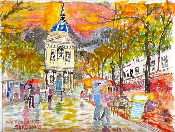 105 Place de la Sorbonne, $160.00 - TomR Water Colors