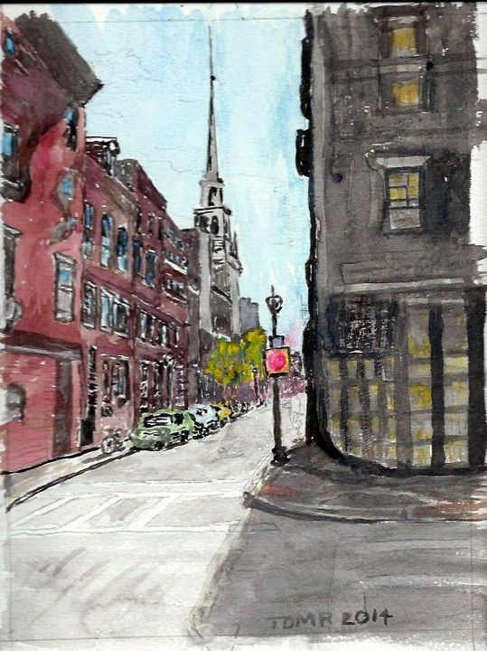 75 Old North Church Boston - TomR Water Colors