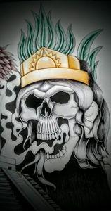 Aztec queen skull