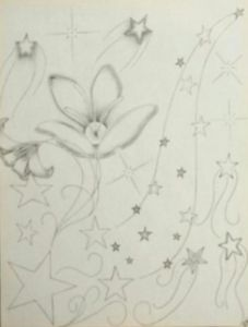 Flower inspiration flowing stars