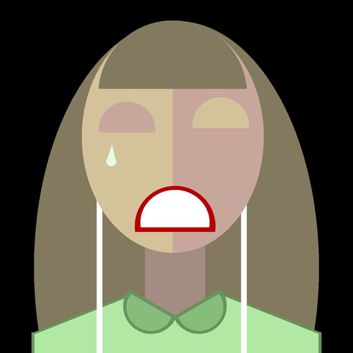 Crying Girl - Graphic Design