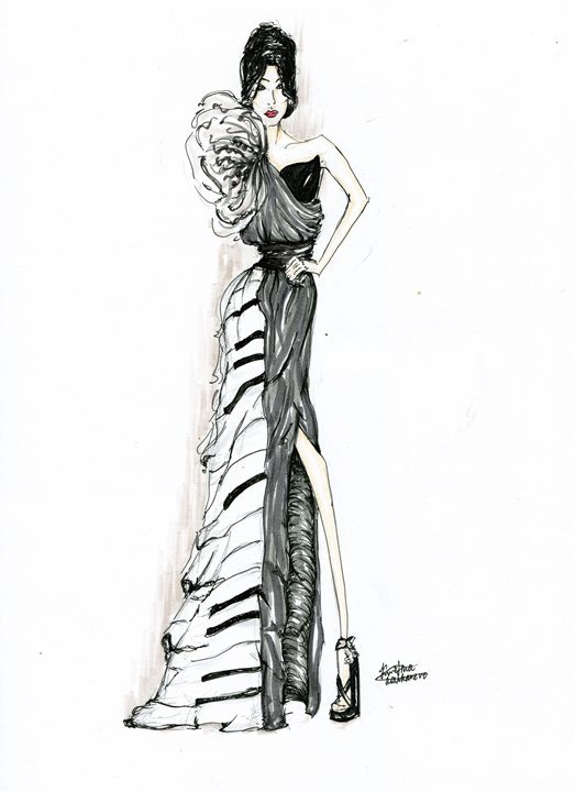 The piano girl. - Kristinalosh illustrations