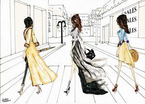 The walking girls.