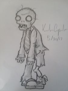 "Zombie from ""plants vs zombies"""