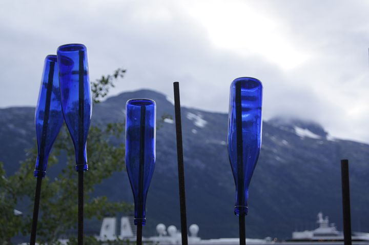 Blue Bottles in the Harbor - Void Creations