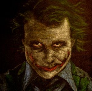Enhanced Heath Ledger as Joker
