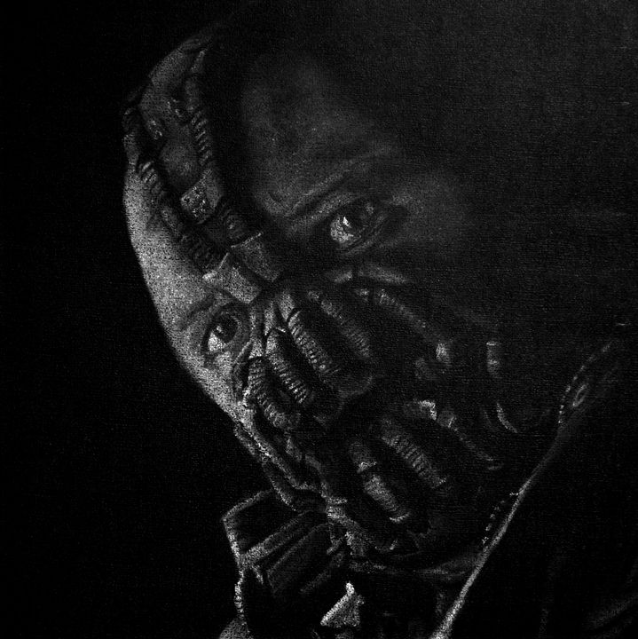 B/W version of Tom Hardy as Bane - Void Creations
