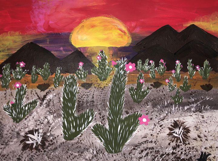 Arizona desert sunset - HannahC