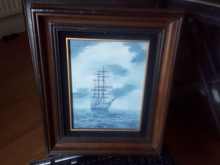 OIl Painting of a Boat - CRZ