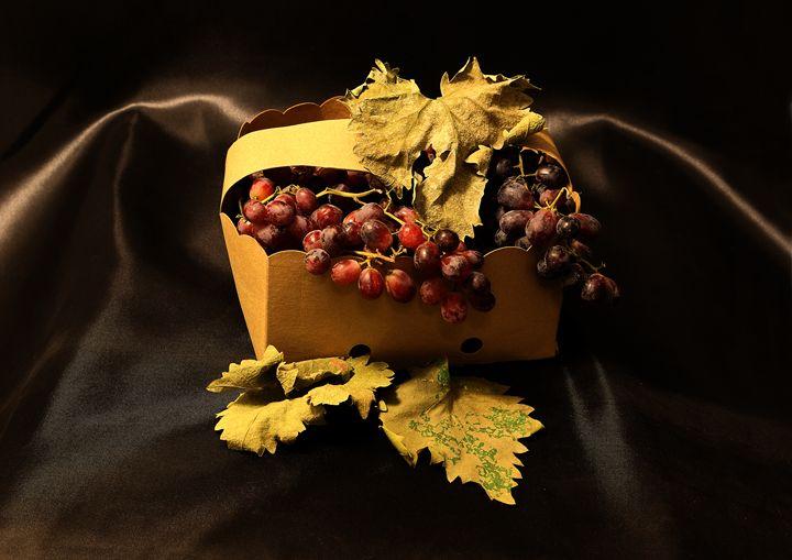 Grapes In Basket - Fine Art by Viktor Savchenko