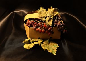 Grapes In Basket
