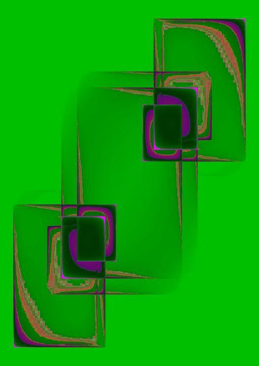 smartphone on green background - Rene art