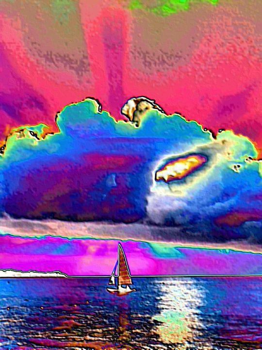 Abstract art sailboat nr 20 - Rene art