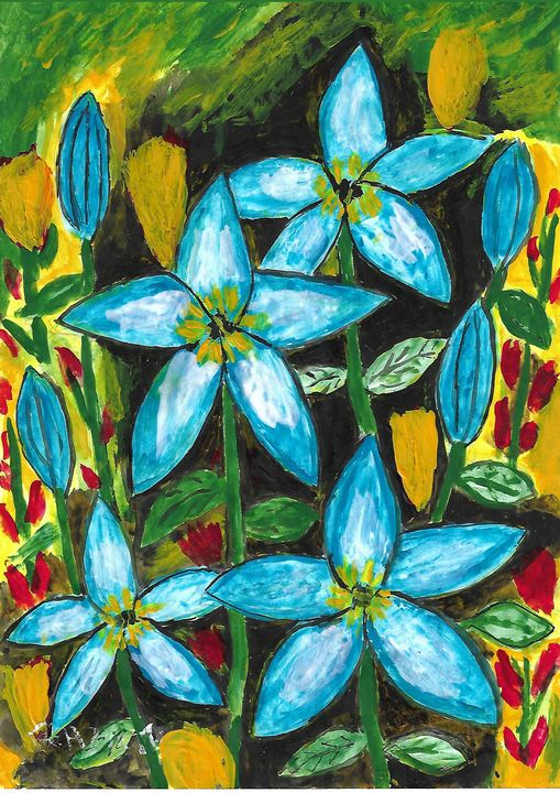 blue surprise - Rene art