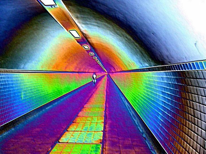 Bike tunnel - Rene art