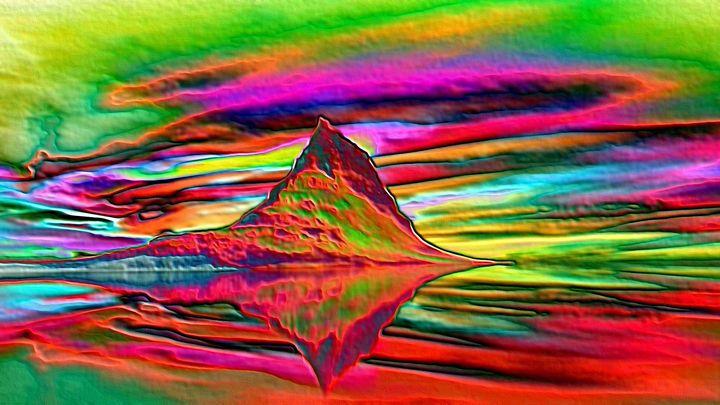 Scandinavian mountain - Rene art