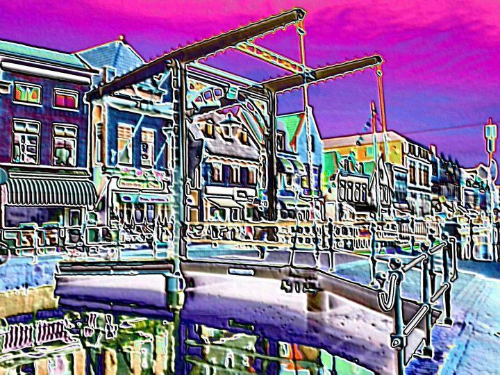 Canal bridge in Utrecht - Rene art