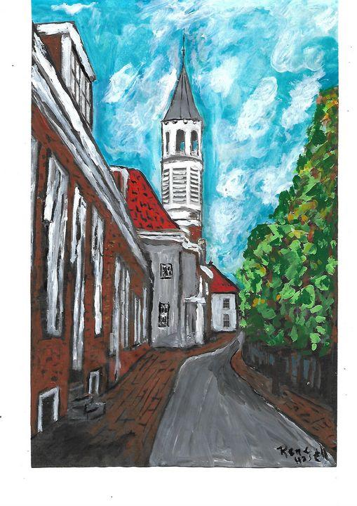 Narrow street in Amersfoort - Rene art