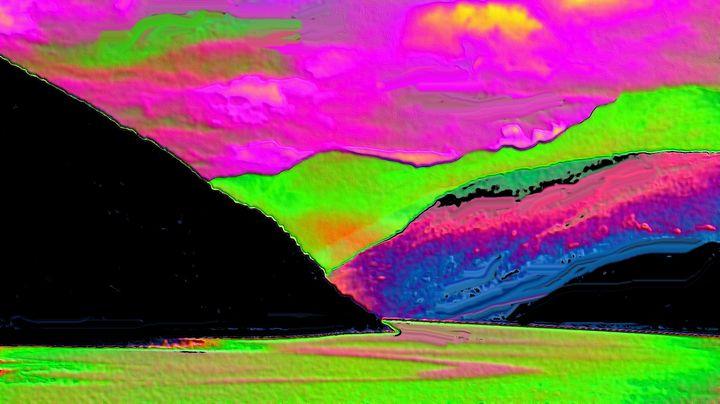 Norwegian fjord - Rene art