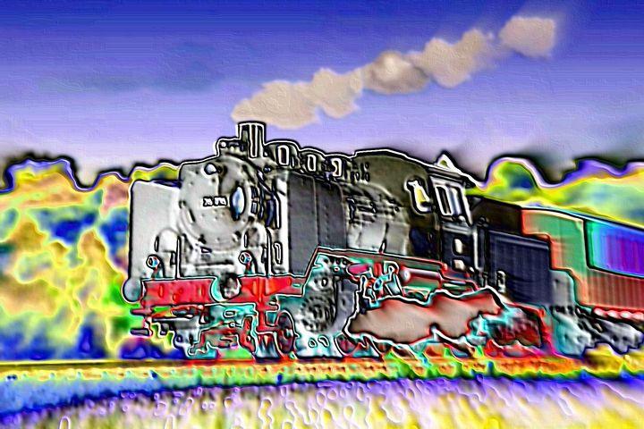 Vintage train - Rene art