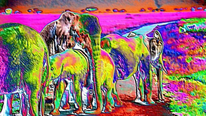 African elephants - Rene art