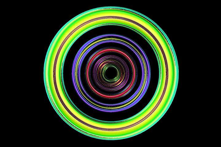 Neon cirkel - Rene art
