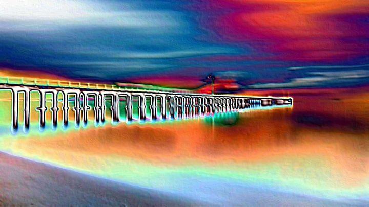 Pier in the northsea - Rene art